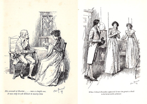 Tinted Line Illustrations by C.E. Brock