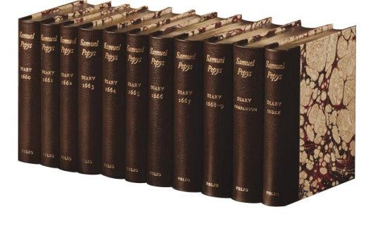 pepys diary folio society leather